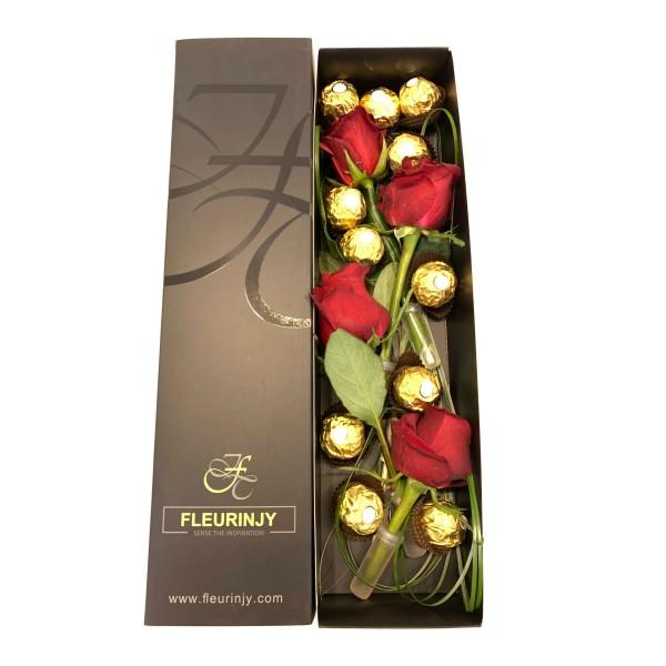 Roses Tie Box FV-006